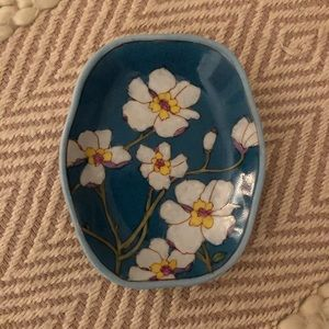 Purchased in Shanghai Hand-Painted Jewelry Dish